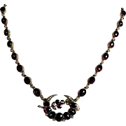 Exquisite Bohemia Garnet Necklace ca. 1900