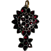 Fine 19th Century  Bohemian Garnet Pendant