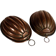 Handmade Pie Molds Pair ca. 1900