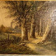 19th Century Landscape Signed L. Henry Barbizon School