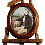 German Miniature Painting of Gentleman  Late 19th Century
