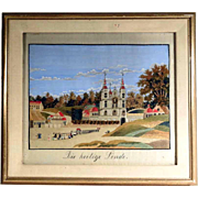 Fantastic Silk Embroidery Holy Linden Tree Pilgrimage Basilica Convent Work