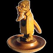 German Hand Carved Nutcracker w. Nut Bowl Gnome Folk Art ca. 1930
