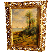 Mediterranean Landscape about 1900 Artist Signed