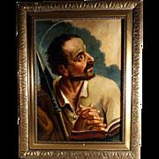 Late 18th Century Religious Painting Saint Thomas the Apostle