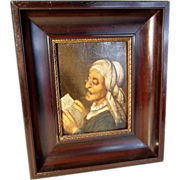 Portrait of a Reading Aged Women Early 19th Century