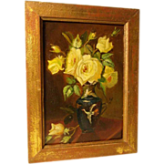 Yellow Roses Still Life Art Deco Period