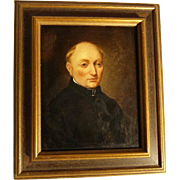 19th Century Excellent Portrait of a Church Man  Dutch School