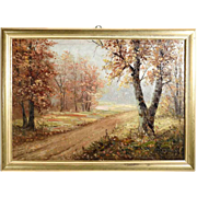 Stunning Landscape Wooded Area Artist Signed