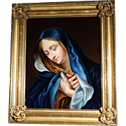 Praying Virgin Excellent Painting Italian Master  ca. 1850