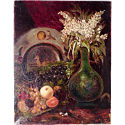 19th Century Delightful Still  Life Monogrammed and Dated