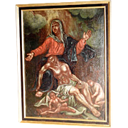 Pieta –Religious Painting Baroque 18th Century Flemish School