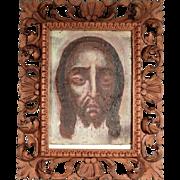 18th Century Holy Face Sudarium Veil of Veronika