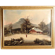Snowy Landscape ca. 1880