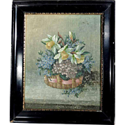 Lovely Flower Still Life Spring Bouquet Early 20th Century