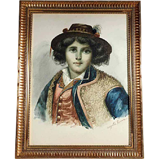 19th Century Incredible Water Color Artist Signed