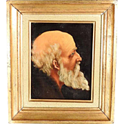 19th Century Portrait of a Bearded Man Saint Peter