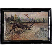 Miniature Painting Retrieving  Chase Dog