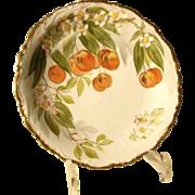 Fine Porcelain Plate Limoges Ahrenfeldt  - Cherries