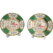Superb Pair of Minton China Dishes Hand Painted ca. 1900