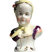 Fine Porcelain Bust Princess of Bourbon German Manufactory Rudolstadt