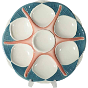 Beautiful Majolica Oyster Plate Starfish Pattern Sarreguemines