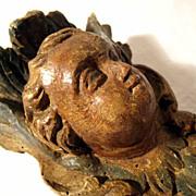 18th Century Exquisite Putty Head Angel Folk Art