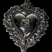 Large Ex-Voto Votiv Offering Most Sacred Heart of Jesus about 1920