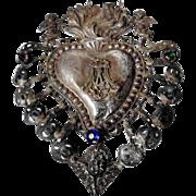 Antique 19th Century Reliquary Ex-Voto Paste Stones – Extremely Rare