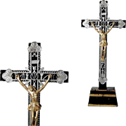 Beautiful Wooden Crucifix Instruments of Passion Night Table Crucifix