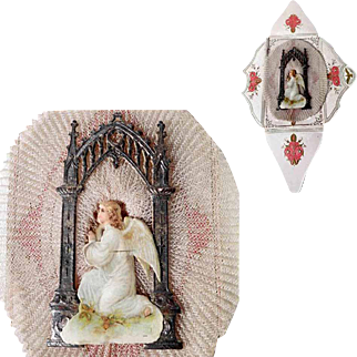 Lovely Net Lace Work Baptismal Letter dated 1892