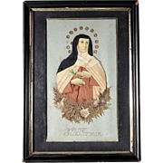 Old Reliquary Saint Theresa of Avila German Devotional Object