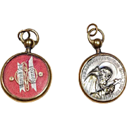 Old Reliquary Pendant Shape Brother Conrad Agnus Dei