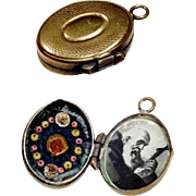 Old Relic Holder Theca Locket Shape Brother Conrad