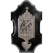 Fantastic Holy Water Font Station of the Cross Jesus is Taken Down