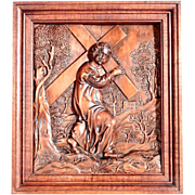 Exceptional Religious Carving Way of the Cross Jesus Accepts his Cross