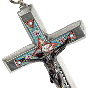 Micro Mosaic Cross Plini Dove – Grand Tour Souvenir