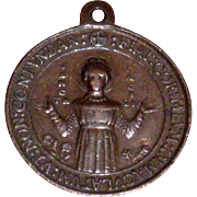 Devotional Medal Saint Cecilia Rome ca.  1860