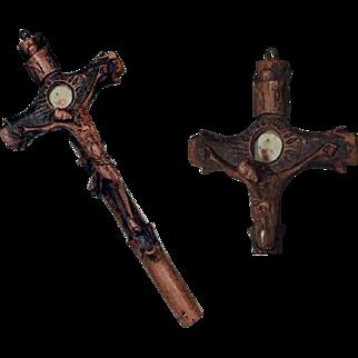 Rare Hand Carved Reliquary Relic Cachet 19th Century