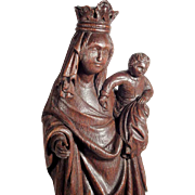 Religious Hand Carving Virgin Mary and Jesus ca. 1820/50