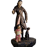 18th Century Folk Art Carving Statue of Saint Roch