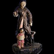 18th Century Folk Art Carving Statue of Saint Roch