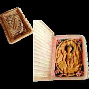 "Lovely Miniature  Monastery Work ""Wachsstock"" Baby Jesus"
