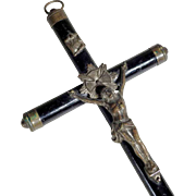 Wooden Cross Travel Cross ca. 1900