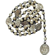 19th Century French Rosary Seven Sorrows of Mary