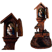 Exquisite Way Cross Shrine Marterl Hand Carved Porcelain Plaque