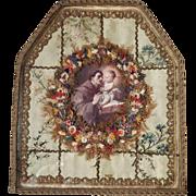 Vintage Reliquary Monastery Work Saint Anthony of Padua