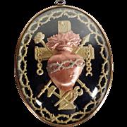 19th Century Reliquary Sacred Heart of Jesus