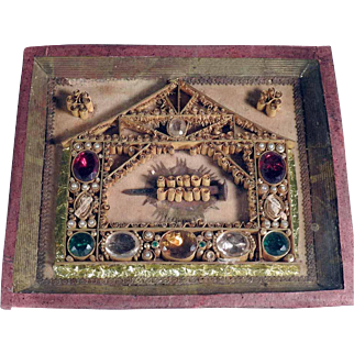 Stunning  Devotional  Holy Nail Paperolles  Reliquary