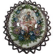 Superb and Rare Reliquary Holy Family Glass Beads